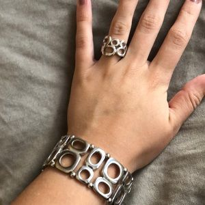 Lia Sophia ring and bracelet set